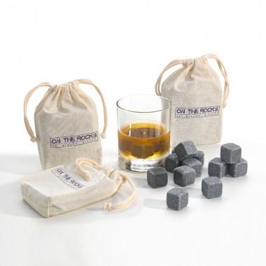 36 Glaçons granit Bleu de Bretagne | Lot de 3 sachets coton
