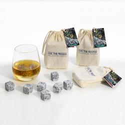 36 glaçons granit clair du Sidobre | Lot de 3 sachets coton
