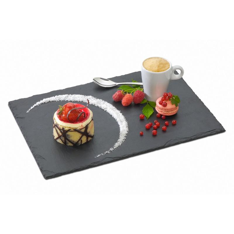 Assiette en ardoise 32 x 22 cm