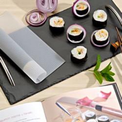 Plateau sushis en ardoise 40 x 20 cm