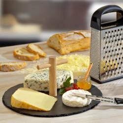 """Plateau à fromages """"croix du berger"""" en ardoise"""