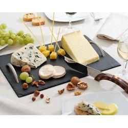 Plateau à fromages en ardoise 40 x 25 cm