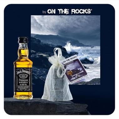 Whisky Jack Daniel's + 3 glaçons granit bleu de Bretagne