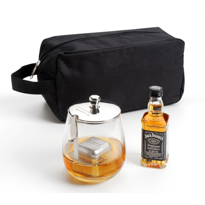 coffret cadeau titanium spirits jack daniel 39 s trousse. Black Bedroom Furniture Sets. Home Design Ideas