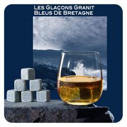 6 Glaçons en granit Bleu de Bretagne | Berlingot