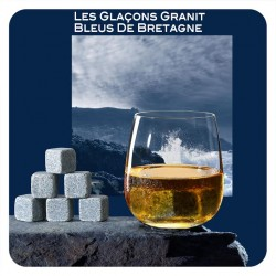 6 granite ice cubes from Brittany