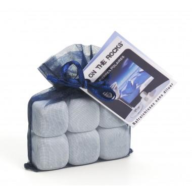 6 glaçons pierres polaires en sachet organza