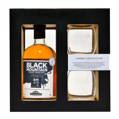 Coffret dégustation | Whisky Black Mountain  N°2 + Verres Helicium