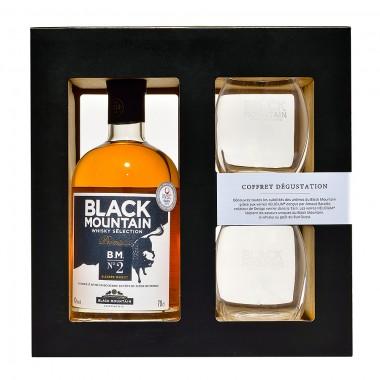 Coffret dégustation | Whisky Black Mountain  N°2 + Verres Helicium