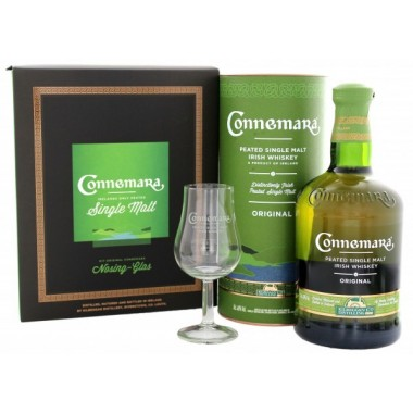 Whisky Irlandais Connemara Peated Single Malt coffret cadeau 1 verre