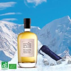 Organic Whisky Domaine des Hautes Glaces + 6 Mont-Blanc granite icecubes
