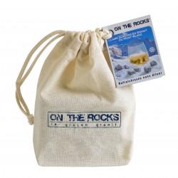 9 Mont Blanc Granite icecubes in cotton bag