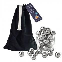 "30 Ice""Balls"" Titanium Spirits® + stainless icetong"