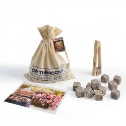 30 Pierres à Vin en sachet coton + Pince en bois de hêtre