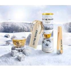 Gift box| 6 Aubrac granite ice cubes + Beech wooden tong