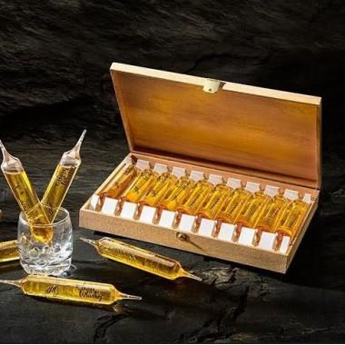 Coffret bois 10 Ampoules à whisky Elsass 2cl