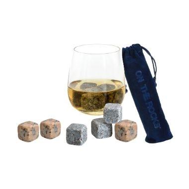 6  Glaçons granit Bleu de Bretagne et Pierres à vin   | Sachet velours