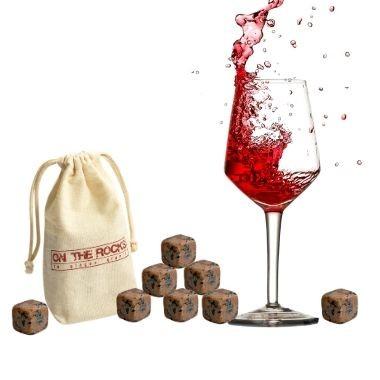8 Pierres à vin | Sachet coton