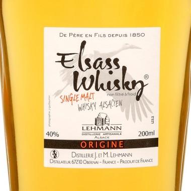 Elsass whisky Alsacien Flasque 200 ml