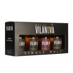 Ensemble de 4 mignonettes Whisky Vilanova